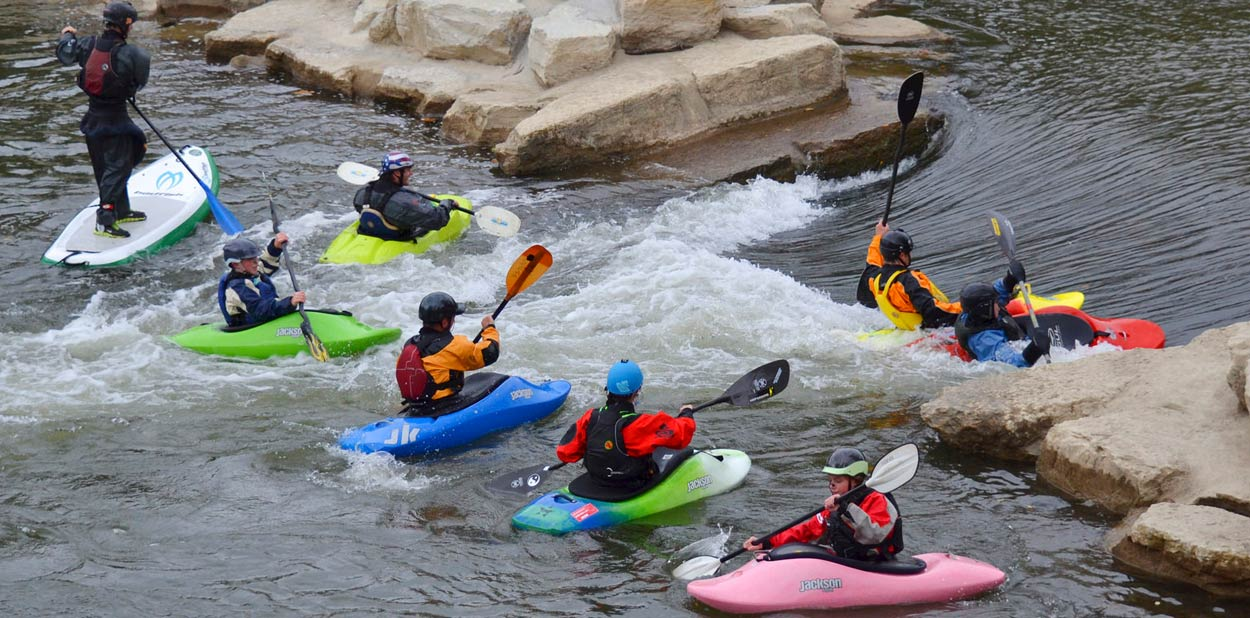 Kayakers on Mad River Run