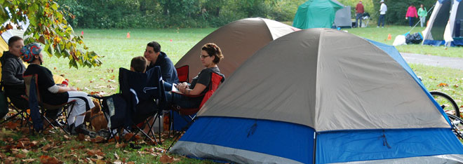 Campers in campground